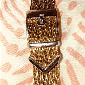 Jewelry - 14KT YELLOW AND WHITE GOLD BUCKLE BRACELET